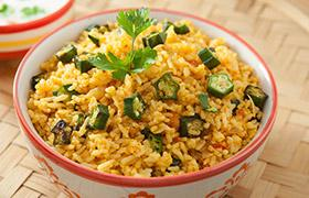Bhindi Rice (Vendakkai Saddam)
