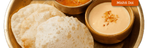 Aloor Dum, Luchi and Mishti Doi